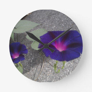 Morning Glory Wildflower Wall Clock
