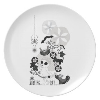 MORNING GRAY MONOCHROME PARTY PLATES