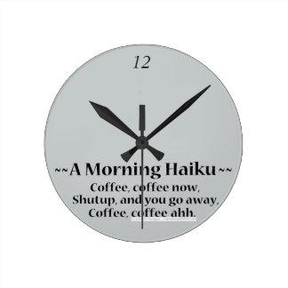 Morning Haiku Clocks