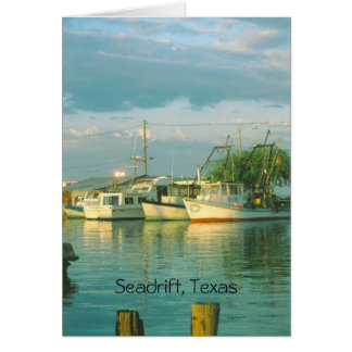 Morning Harbor, Seadrift, Texas Note Card