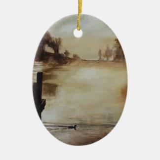 Morning Has Broken Ceramic Oval Ornament