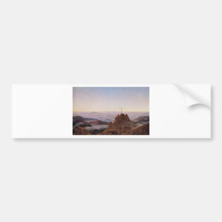 Morning in Riesengebirge - Caspar David Friedrich Bumper Sticker