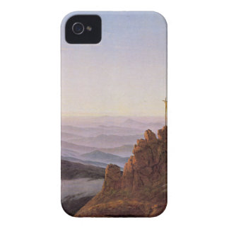 Morning in Riesengebirge - Caspar David Friedrich Case-Mate iPhone 4 Case