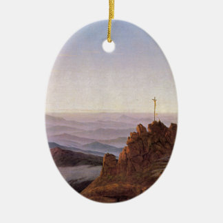 Morning in Riesengebirge - Caspar David Friedrich Ceramic Ornament