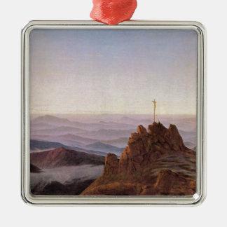 Morning in Riesengebirge - Caspar David Friedrich Metal Ornament