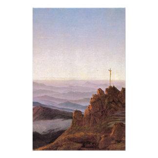 Morning in Riesengebirge - Caspar David Friedrich Stationery
