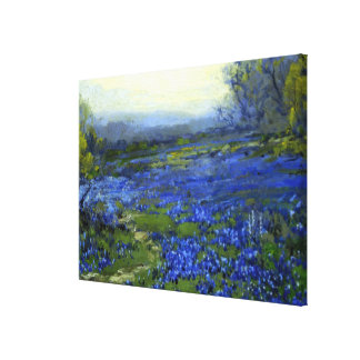 Morning in the Bluebonnets Canvas Print