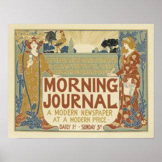 Morning Journal A Modern Newspaper Poster