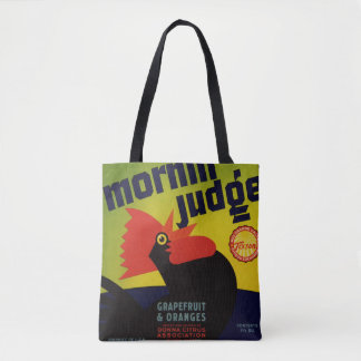 Morning Judge Grapefruit & Orange Crate Label Tote Bag