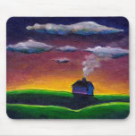 Morning landscape new year colourful original art mouse pads