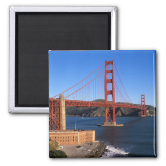 Morning light bathes the Golden Gate Bridge Magnet