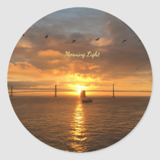 Morning Light Classic Round Sticker