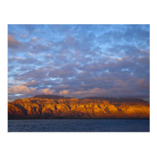 Morning light greets the Sierra de la Giganta Postcard