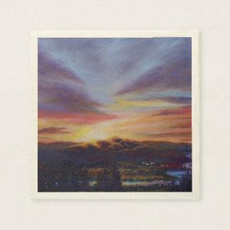Morning Light in CHB Sunrise Painting Disposable Napkin