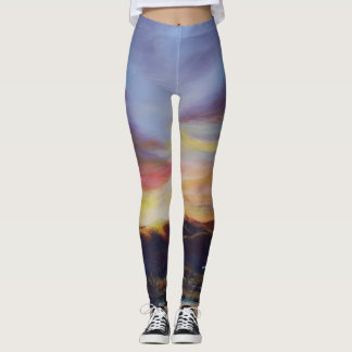 Morning Light in CHB Sunrise Painting Leggings