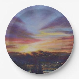 Morning Light in CHB Sunrise Painting Paper Plate