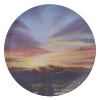 Morning Light in CHB Sunrise Painting Plate
