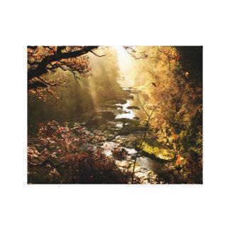 Morning Light, New Lanark Scotland Canvas Print