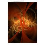 Morning Magic Abstract Art Greeting Card
