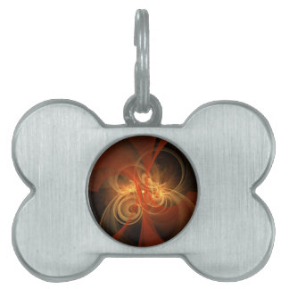 Morning Magic Abstract Art Pet Name Tag