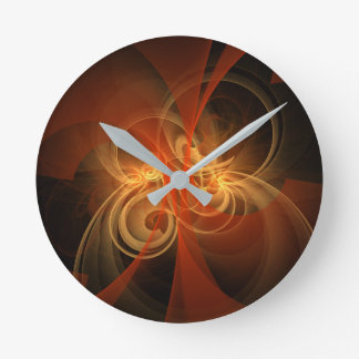 Morning Magic Abstract Art Round Round Clock