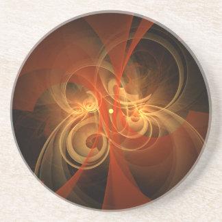 Morning Magic Abstract Art Sandstone Coaster
