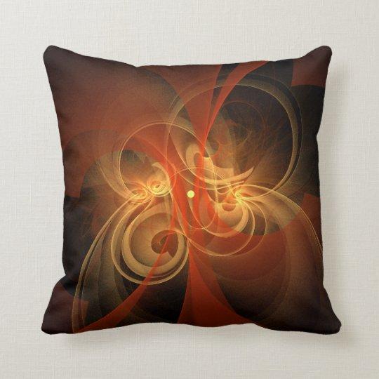 Morning Magic Abstract Art Throw Pillow