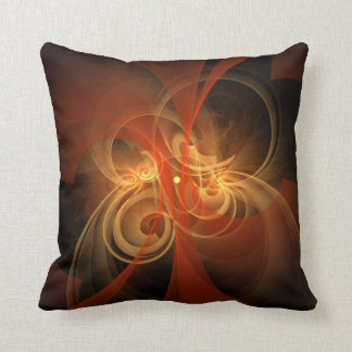 Morning Magic Abstract Art Throw Pillow