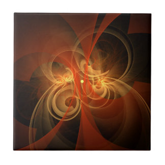 Morning Magic Abstract Art Tile