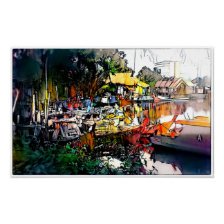 Morning Malacca - Art On Canvas Print