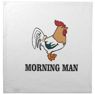 morning man rooster napkin