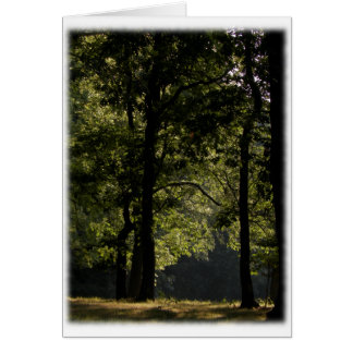Morning Meadow & Trees Blank Card