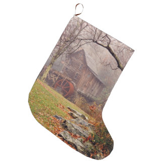 Morning Mist Large Christmas Stocking