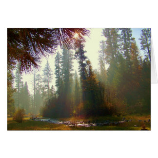 Morning Mist on the North Fork Photo Greeting Card