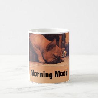 Morning Mood Pug Mug
