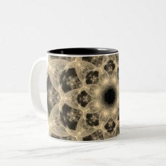 Morning Moon Mandala Two-Tone Coffee Mug