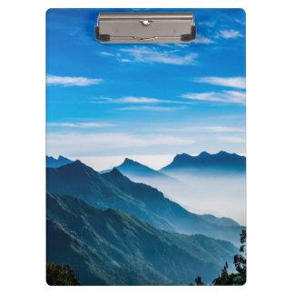 Morning Mountain Mist Clipboard