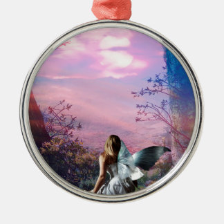 MORNING MYST Silver-Colored ROUND ORNAMENT