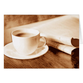 Morning News and Coffee Card