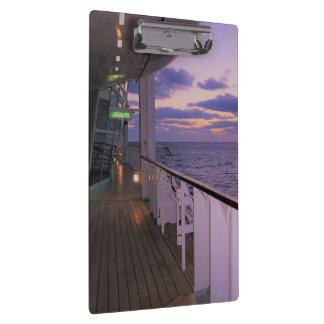 Morning on Board a Cruise Ship Clipboard