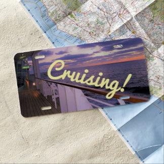 Morning on Board Cruising License Plate