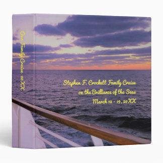 Morning on Board Custom Cruise Memory Book Vinyl Binders