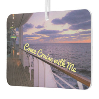 Morning on Deck Cruise with Me Air Freshener