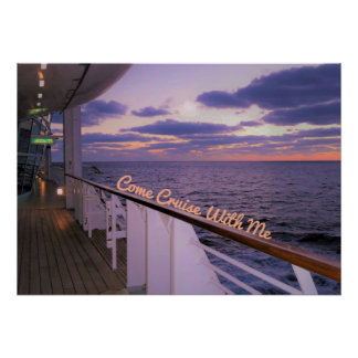 Morning on Deck Cruise with Me Poster
