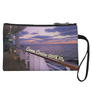 Morning on Deck Cruise with Me Wristlet