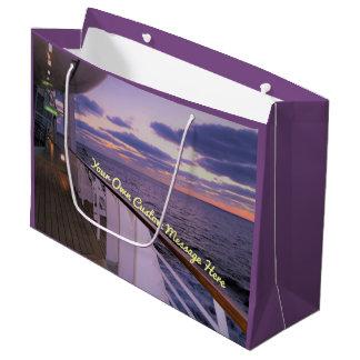 Morning on Deck Custom Large Gift Bag