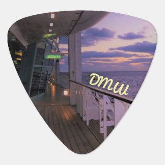 Morning on Deck Monogrammed Guitar Pick