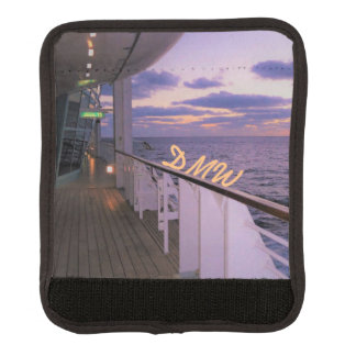 Morning on Deck Monogrammed Luggage Handle Wrap