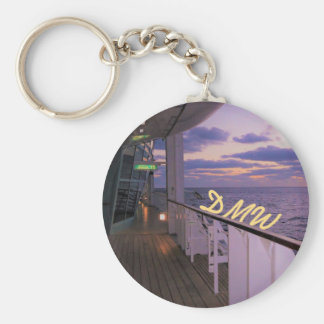 Morning on Deck Personalized Basic Round Button Keychain