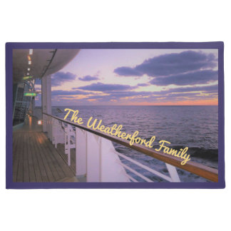 Morning on Deck Personalized Doormat